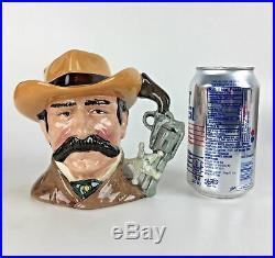 1984 Wyatt Earp Toby Mug Jug Royal Doulton Wild West England Cowboy Vtg Gift