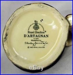 4 Vintage Toby Jugs Muscateers by Royal DoultonD'ArtagnanPorthosAthosAramis