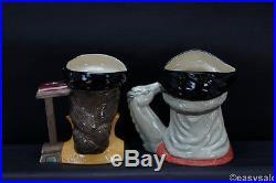 (7) Royal Doulton Henry VIII & 6 Wives D6644 D6643 D6646 D6645 Toby Jug Set