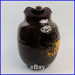 A Large Royal Doulton Pottery Kingsware Fox Hunting Jug C. 1910-1927