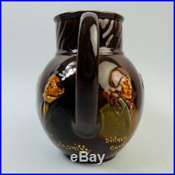 A Royal Doulton Dickens Characters Kingsware Pottery Maskhead Whisky Water Jug
