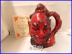 Aladdin's Genie Royal Doulton Flambe Character Toby Jug D6971 RARE Large # 667