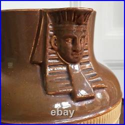 An Antique Egyptian Revival Royal Doulton Salt Glazed Jug, c. 1900. 23cm High