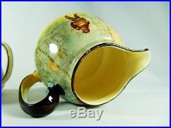 Antique Art Deco Royal Doulton Falstaff Sugar Bowl Lid Milk Jug Set Shakespeare