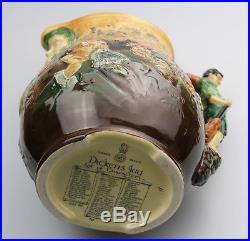 Antique British Art Pottery fine Royal Doulton Dickens Dream Jug by Noke C. 1933