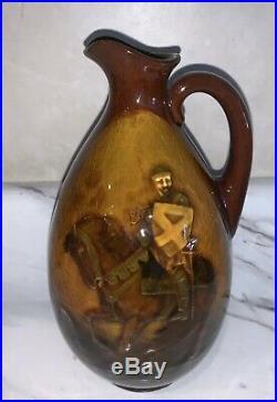Antique Royal Doulton Kingsware 1913 Crusader Greenlees Scotch Whiskey Jug