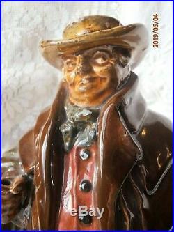 Antique Royal Doulton Kingsware Tony Weller Flask Signed Jug