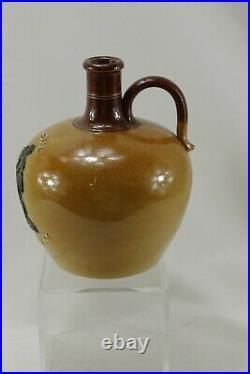 Antique Royal Doulton Lambeth Special Old Irish Whisky Stoneware Jug
