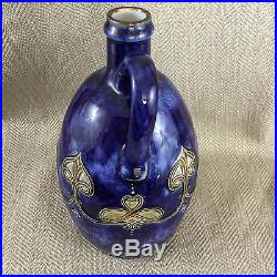 Art Nouveau Royal Doulton Stoneware Jug Flagon Emma C Harrison