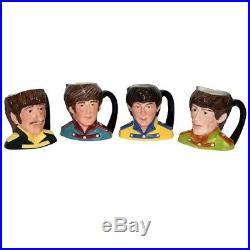 Beatles Royal Doulton Ceramic Toby Jugs John Paul George & Ringo 1984 Sgt Pepper