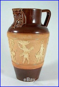 C1905 antique Royal Doulton Egyptian pattern jug