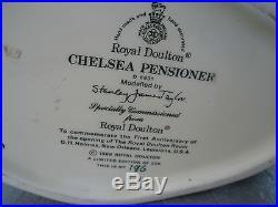 Chelsea Pensioner D 6831 Royal Doulton Limited Edition Toby Jug Character COA