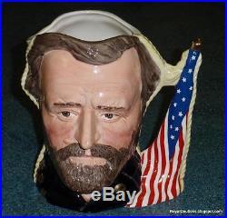 Civil War Ulysses S. Grant & Robert E. Lee Royal Doulton Toby Jug D6698 RARE
