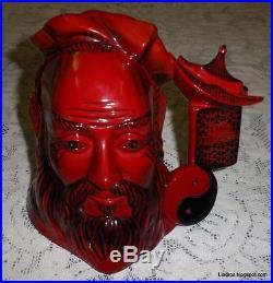 Confucius Royal Doulton Flambe Character Toby Jug Yin Yang D7003 With Box