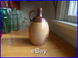 DOULTON LAMBETH 1890s POTTERY JUG DUNKELD CATHEDRAL BROWN STONEWARE OVOID