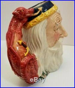 EUC Cert of Auth Royal Doulton Merlin Mug Stein Jug D7117 7 1/2 x 8 1/2