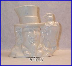 Fantastic & V. V. Rare Royal Doulton Prototype White Uncle Sam Ch Jug Mint Cond
