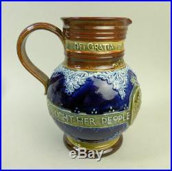 Fine Royal Doulton 1897 Queen Victoria Jubilee Pottery Jug