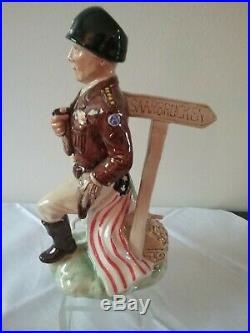 Kevin Francis Toby Mug Jug General George S Patton #50/750 GREAT COLOR & DETAIL