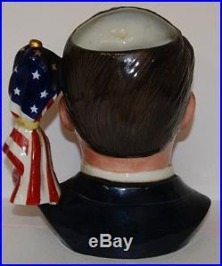 LARGE ROYAL DOULTON CHARACTER JUG RONALD REAGAN D6718 EXTREMELY RARE MINT