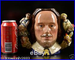 LARGE ROYAL DOULTON William Shakespeare English Character Toby Jug D6933 LIMITED