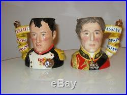 Limited Edition Royal Doulton Character Jugs Napoleon & Wellington
