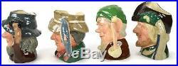 LOT of 4 Royal Doulton Large Character Toby Jug Mugs