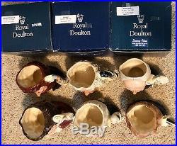 Large Royal Doulton COMPOSER series Jug Mugs x 6 (1 signature)