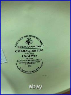 Large Royal Doulton Character Jug Cival War D7266 Limited Double Headed Jug