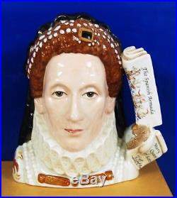 Large Royal Doulton Character Jug Queen Elizabeth I D7180 Perfect