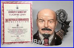 Large Royal Doulton Character Jug Vladimir Lenin Toby Mug D7289 With COA & Box