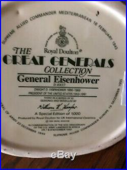 Large Royal Doulton D6937 GENERAL EISENHOWER Jug SHAEF