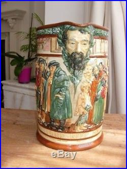 Large Royal Doulton Dickens Master of Smiles & Tears Jug by Noke very rare