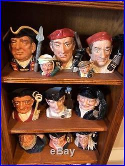 Large Royal Doulton Face Jug Collection