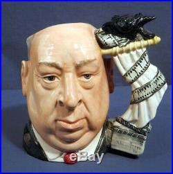 Large Royal Doulton Toby Jug Mug Alfred Hitchcock D6987 7-1/4 Mint
