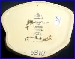 Large Royal Doulton Toby Jug Mug Rare Geoffrey Chaucer D7029 Mint