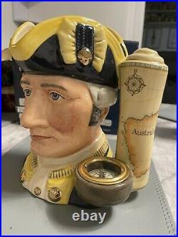 Large Size Captain James Cook Doulton Character Jug