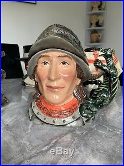 Large Size St George Limited Edition Doulton Character Jug