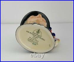 Limited Ed. Royal Doulton Toby Jug Sir Winston Churchill D 6849 4 tall