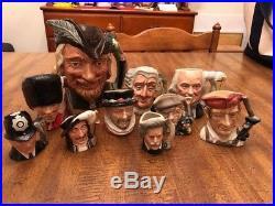 Lot 10 Royal Doulton Toby Character Mugs Pitchers Jugs
