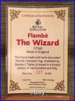 ONLY 250 MADE Royal Doulton Limited Edition Large Flambe Wizard Character Jug