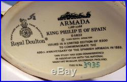 Perfect PAIR ROYAL DOULTON Character JUGS King Philip & Queen Elizabeth
