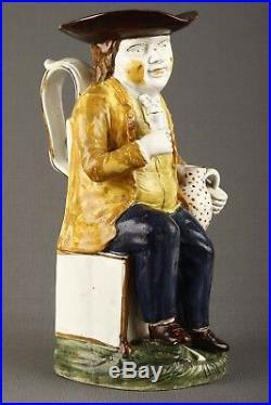 Prattware Sailor Toby Jug circa 1780