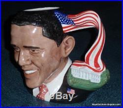President Barack Obama Royal Doulton Character Toby Jug D7300 ULTRA RARE