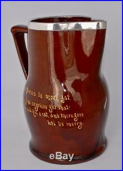 RARE! HUGE Royal Doulton Kingsware Pitcher/Jug with Sterling Silver (24cm/2.8L)