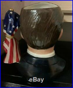 RARE Ronald Reagan Character Jug by Royal Doulton with COA #346 of 2000