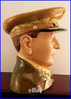 RARE Royal Doulton Character Jug General MacArthur D7264 RARE