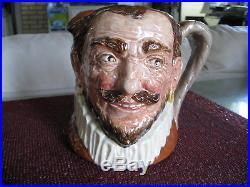 RARE Royal Doulton Character Toby Jug Hatless Drake Large Sz PERFECT Old Mark