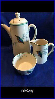 RARE Royal Doulton'Kingfisher' Coffee Pot, Milk Jug & Sugar Bowl