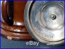 RARE Royal Doulton Kingsware CHURCHWARDEN Tobacco Jar & DEWAR JUG LOT OF 2 a/f